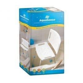 Aquasense adjustable bath chair with backrest