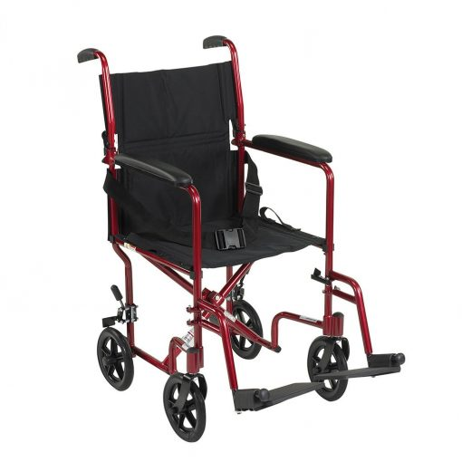 Aluminum transport chair by drive medical