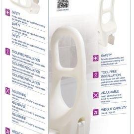 Drive medical plastic tub rail