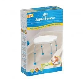 Aquasense ergonomic adjustable bath chair without backrest