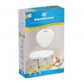 Aquasense ergonomic adjustable bath chair with backrest