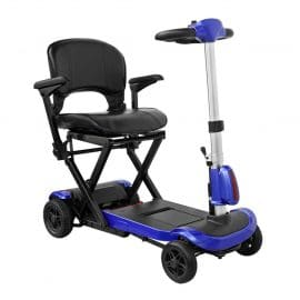 Drive ZooMe Auto Flex Folding Travel Scooter blue
