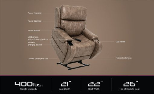 Pride mobility vivalift atlas plus plr2985m lift chair