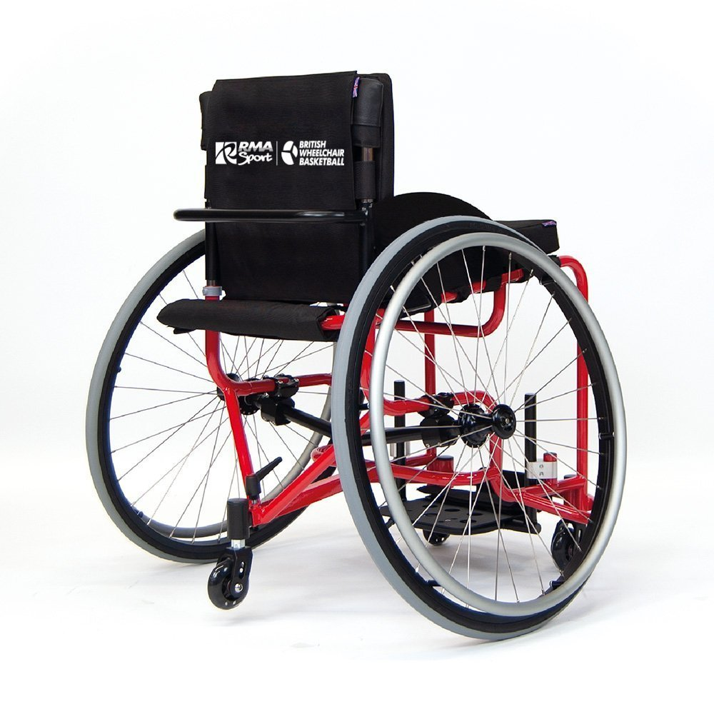 Red club basketball wheelchair back